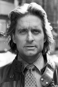 David Mcgough (Actor Michael Douglas on set of his film Romancing the Stone) US, New York 1983