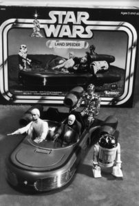 Ralph Morse (STAR WARS collectible figures including Luke Skywalker, Obi Wan Kanobi, C3P0 in a land speeder & R2D2) 1978