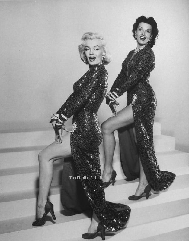 Edward Clark (Actresses Marilyn Monroe & Jane Russell performing hot song & dance number in the movie Gentlemen Prefer Blondes) US 1953
