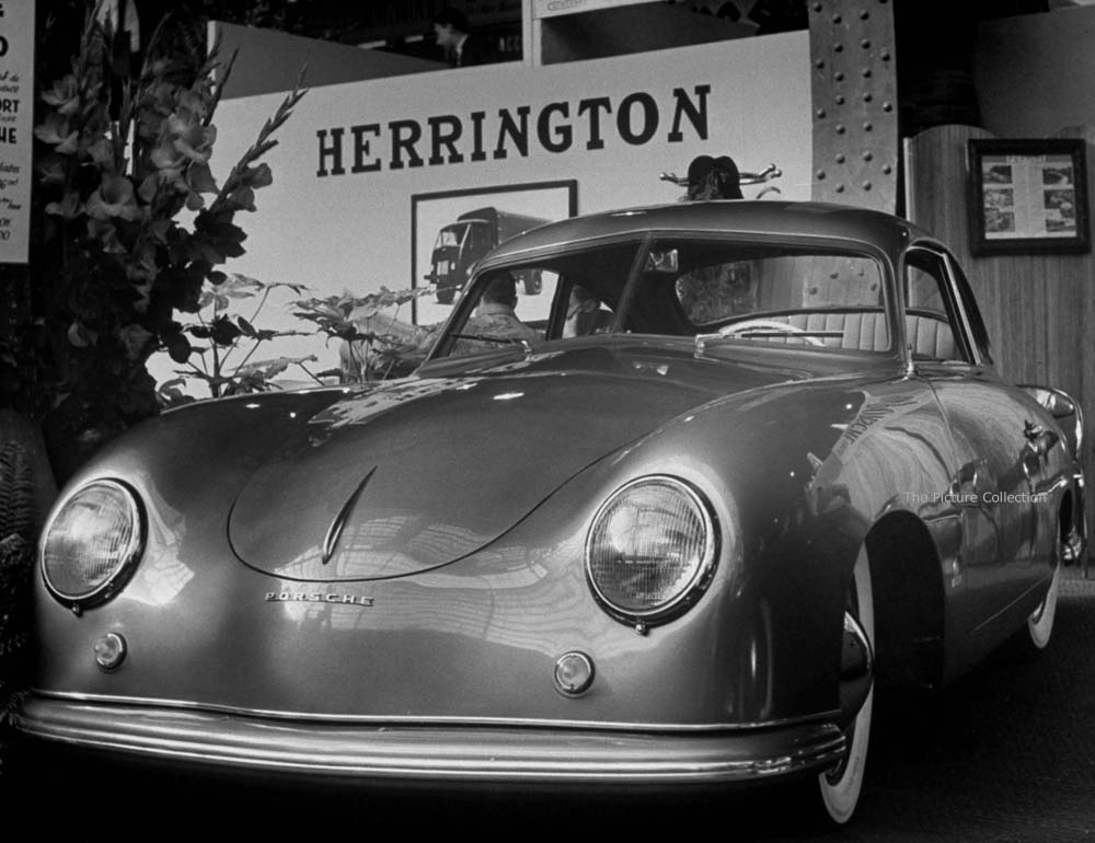 Gordon Parks (Front view of a slick coupe at Paris Auto Show) France, Paris 1950